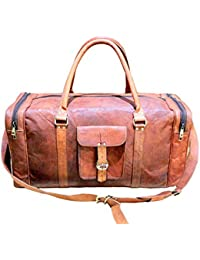 Stonkraft 100% Genuine Leather Travel Bag/Duffle Bag | Shoulder Bag | Hand Held Duffel Bag - For Business Travel...