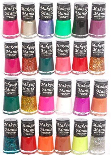 Makeup Mania Exclusive Nail Polish Set of 24 Pcs (Multicolor Set # 75, 82)