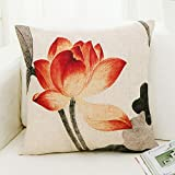 Home Sofa Car Decoration Ornament Hold Throw Pillow Cushion Christmas Valentine Gift Modern pillows with cores sofa cushions rectangular lumbar pillow,30*50cm,Lotus