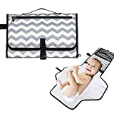 Newthinking Portable Changing Pad, Diaper Changing Pad Organizer, Lightweight Travel Station Kit for Baby Diapering - Entirely Padded, Detachable for Moms with Newborns, Infants and Toddlers