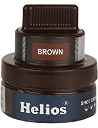 Helios Leather Shoe Cream with Applicator - Brown