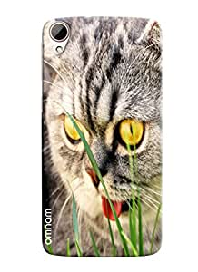 Omnam Cat Face Ugly Looks Printed Designer Back Cover Case For HTC Desire 828
