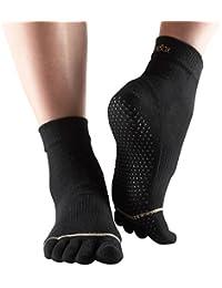 Calcetines de Yoga- Negros - Toesox
