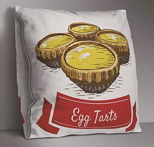 ätze von Sofa Kissenbezug Geometrie chinesisches Essen Essen kreative doppelseitige Kissen Kissenbezug Schlafzimmer Wohnzimmer Dekoration 45x45 cm / 18x18 Zoll ()