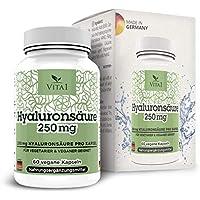Cápsulas de Ácido Hialurónico 250mg de VITA1 • 60 cápsulas (2 meses de suministro)