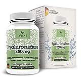 Vita 1 Hyaluronsäure 250 mg 60 Kapseln (2 Monate Vorrat) gegen Falten und Entzündungen, 24 g
