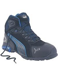 Puma Rio mediados de zapatillas de seguridad botas negro tamaño 10