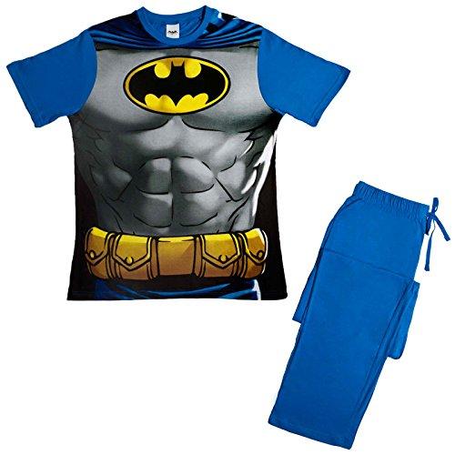 Pijama Para hombre, de personaje, 2piezas, camiseta corta y pantalones largos multicolor Hombre Murcielago Large