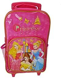 Disney Princess Premium Wheeled Bag Children's Luggage, 38 cm, 12 Liters, Pink