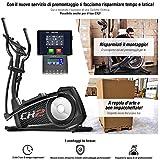 Sportstech Cyclette ellittica CX2 - con App e generatore di Potenza Integrato - Trainer ellittico, Console Bluetooth e Supporto per Tablet Incluso - Massa volano di 27 kg