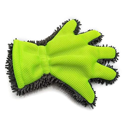 LLDE Zweiseitiger Autopflege Felgenbürste Alu Felgen Reiniger-Handschuh für Autopflege Motorrad Fahrrad- und Felgenhandschuh zur Autoreinigung und Autoaufbereitung