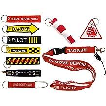 SET 10 llavero de bordado surtido - REMOVE BEFORE FLIGHT & Co.