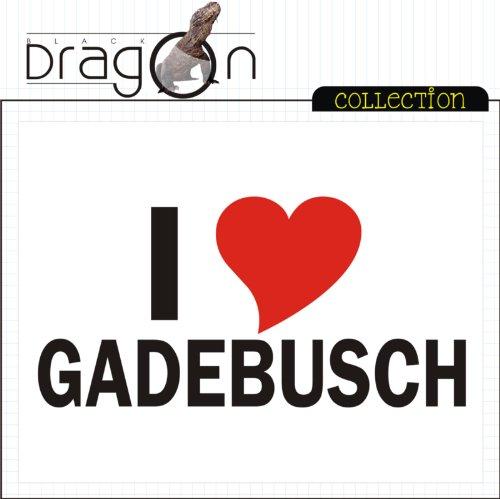 T-Shirt mit Städtenamen - i Love Gadebusch - Herren - unisex Weiß