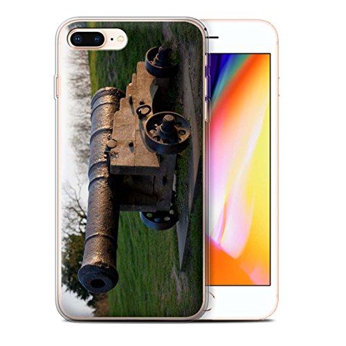 Stuff4 Gel TPU Hülle / Case für Apple iPhone 8 Plus / Altes Boot Muster / Britischen Küste Kollektion Alte Kanone