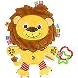 TOYMYTOY Juguetes para dormir del bebé Los juguetes del edredón con los delantales del ambiente pueden morder para la niña recién nacida Niños del bebé Niños (león)