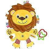 TOYMYTOY Massaggiagengive dentizione per neonati Giocattolo peluche da bambini con anello di leone
