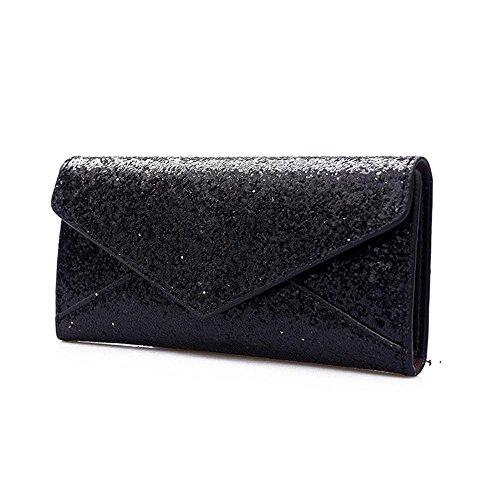 Portafoglio Donna, Tpulling Portafogli donna Portafogli Portachiavi portafogli borsa e borsa piccola (Gray) Black