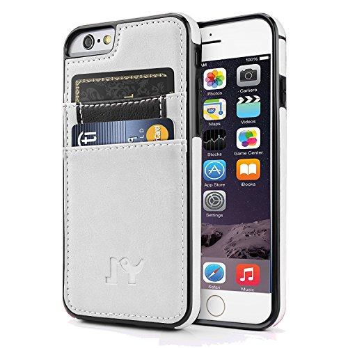 iPhone 66S Plus (14cm) Fall, JY Smart PU Leder Slim Fit Snap auf Executive Wallet Card Case für iPhone 66S Plus, Weiß Executive Leder-cell