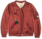 Scotch & Soda R'Belle Mädchen Jacke Teddy Satin Bomber Jacket, Violett (Plum 245), 164 (Herstellergröße: 14)