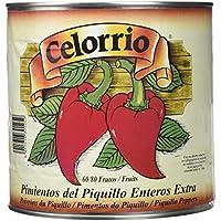 Celorrio 13-13013A Pimiento Piquillo Entero 60-80 Extra Lata Peru - 3 kg