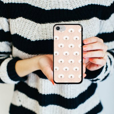 Apple iPhone X Silikon Hülle Case Schutzhülle Spinne Kunst Muster Hard Case schwarz