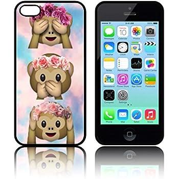 Connu iPhone 5 / 5s Phone case Emoji monkey Tie Dye cute Emojis 9gag  NN83
