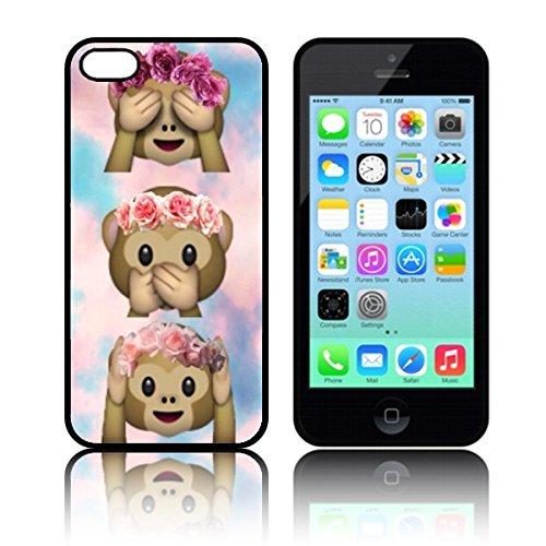 tpu-tie-dye-monkey-emoji-carcasa-de-silicona-para-apple-iphone-5c-negro