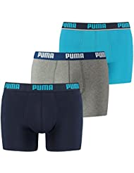 Puma Herren Boxer Shorts 3P Weich Stoff Sports Athletic Hose Drei Paar Packung