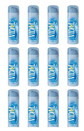 12 X Deodorante corpo spray Vidal FRESH TALC RINFRESCANTE profumo di Talco