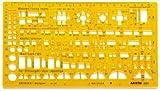 Aristo Werkplanschablone Architekten transparent gelb