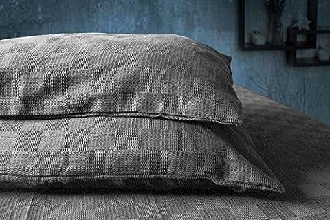 Store Indya, 3 Stuck Bettwasche Set Bett Blatt und 2 Kissenbezugen Fallen in Baumwolle Bettwasche fur Schlafzimmer Dekor gewebt