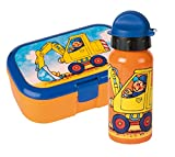Lutz Mauder Set Lunchbox mit Trinkflasche (Bagger)