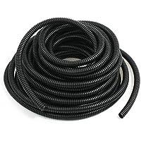 Conducto corrugado automovilistico - SODIAL(R)Negro Plastico 8mmx10mm Tubo contorneado tuberia de arneses alambre 32.8pies