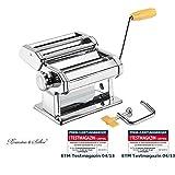Rosenstein & Söhne Nudelmaschine: Nudel-Maschine NM-100, schmale & breite Bandnudeln (Pastamaschine)