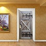 GWELL Türtapete selbstklebend Wasserdicht PVC 77x200cm Abnehmbar TürPoster Fototapete Holzwand Türaufkleber Wandbild für Tür, Wohnzimmer, Schlafzimmer, Küche und Bad 10 Motive zur Auswahl Muster-C