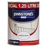 Johnstone's 303870 1.25 Litre Liquid Gloss Paint - Brilliant White