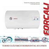 FORCALI - Boiler per acqua, elettrico, orizzontale, 80 litri, serie SEDNA