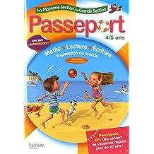 Passeport De la moyenne à la grande section 4/5 ans - Cahier de vacances
