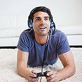 Cascos Gaming Auriculares Gaming Gamer para PS4 PC Xbox One con Micrófono Micro Portátil Computadoras Mac Estéreo Juego Gaming Headset Ligero Cómodo Control Volumen Teléfono (Adaptador Incluido)