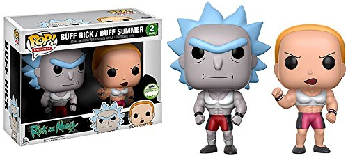 funko pop rick and morty Funko POP Animation Rick und Morty 2pk Vinyl Buff Rick / Buff Sommer (ECCC Spring Convention Exclusive)