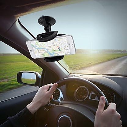 AUKEY-Handyhalterung-Auto-Armaturenbrett-Windschutzscheibe-360-Drehbar-Kfz-Halterung-fr-iPhone-XRXS-Max-87-7-Plus-66-Plus-6s-Samsung-Note-8-S8-Galaxy-S6-HTC-Nokia-BlackBerry-GPS