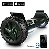 Hoverboard Challenger Basic Monopattino Elettrico Autobilanciato, Balance Scooter Skateboard, con Due ruote 8.5 in, Bluetooth, APP e LED,Inclusa Batteria e Borsa,15Km/H (Green)