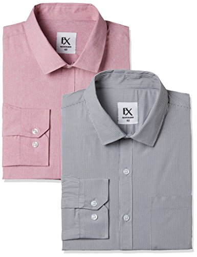 Excalibur by Unlimited Men's Solid Regular Fit Formal Shirt (Pack of 2) (275854806 ASSORTED 42)