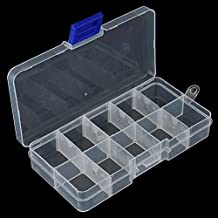 Pesca Señuelo Gancho ajustable Viveros de cebo 10 compartimentos de plástico caja de pesca Accesorios de pesca