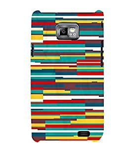 FUSON Quadrangle Shape Texture Backdrop 3D Hard Polycarbonate Designer Back Case Cover for Samsung Galaxy S2 I9100 :: Samsung I9100 Galaxy S Ii