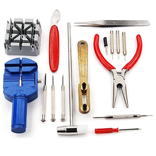 Kit de 16 Herramientas de Relojero para la Reparación de Relojes, Electrónica Rey®