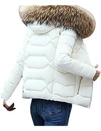 Abrigo Plumas Mujer Corto,Moda Color Sólidas Casual Más Gruesa Invierno Slim Chaqueta Coat Abrigo By VENMO