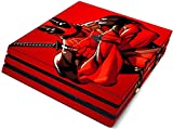 #2: Elton Dead-Pool King Red Theme 3M Skin Sticker Cover for PS4 Pro Console and Controllers