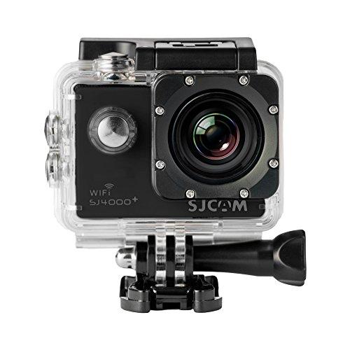 """SJCam SJ4000 Plus - Videocámara deportiva (WiFi integrado, LCD 1.5"""", 1080p 30 fps, sumergible hasta 30 m) color negro, - [Versión español]"""