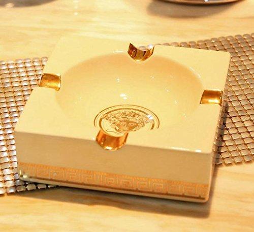 ZAZLL Continental-König Größe Luxus Keramik Aschenbecher kreative Persönlichkeiten Wohnzimmer Hotelbüro Zigarre Aschenbecher Vintage Schmuck , 2